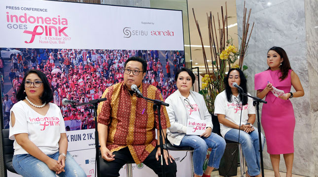 Press Conference Indonesia Goes Pink