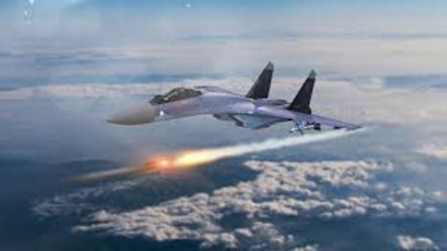 Ilustrasi pesawat tempur Sukhoi SU-35 (Foto Ist)