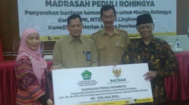 Madrasah Se-Banten Sumbang Rp 630 Juta Via BAZNAS