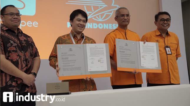 Shopee Gandeng Pos Indonesia Dukung UKM Lokal Melalui E-Commerce