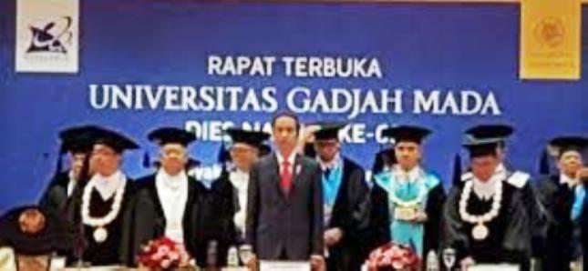 Presiden Jokowi pada acara Diesnatalis UGM (Foto Dok Industry.co.id)
