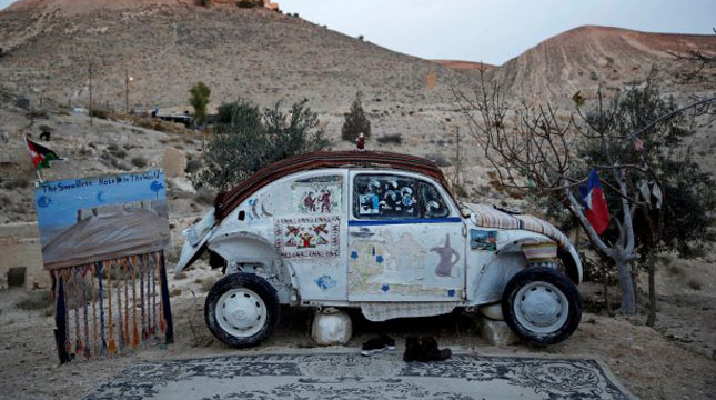 Volkswagen Beetle Car Hotel in Shoubak, Jordan (Photo: REUTERS / Muhammad Hamed)