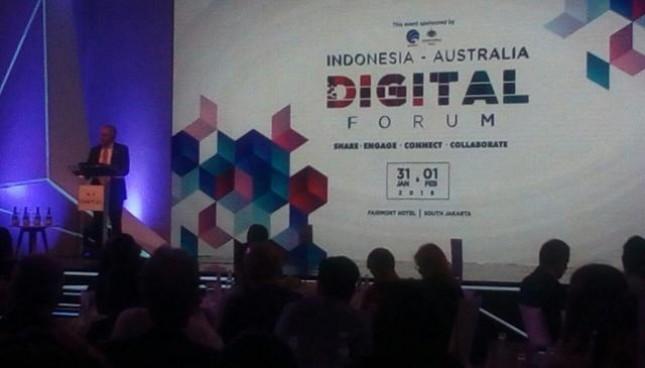 Indonesia-Australia Digital Forum (IADF) untuk meningkatkan kerjasama dalam bidang ekonomi digital.
