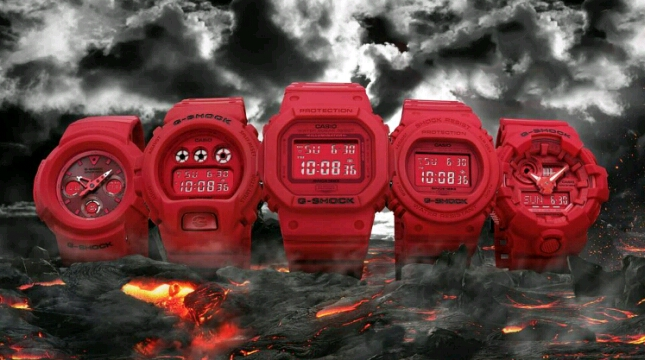 G-SHOCK Red-Out Collection