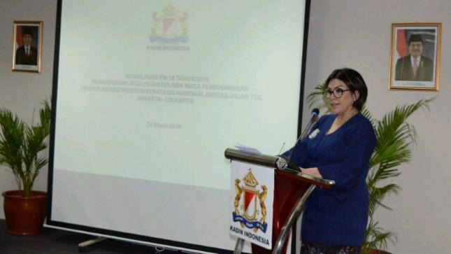 Vice Chairman of Indonesian Chamber of Commerce of Transportation, Carmelita Hartoto