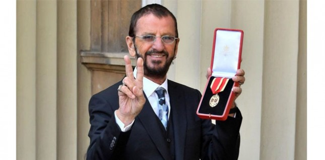 Former Beatles drummer, Ringo Starr when he was knighted at Buckingham Palace. (Photo: BBC News)