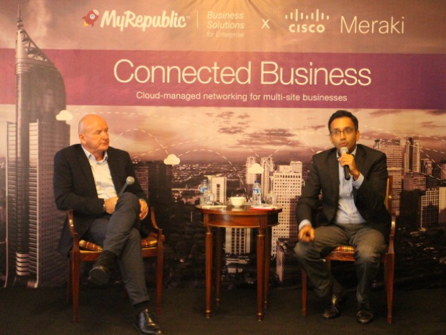 MyRepublic launches MyRepublic Connected Business, an efficient wireless networking solution designed to meet the needs of many branch businesses. MyRepublic Connected Business is the result of MyRepublic cooperation with Cisco Meraki.
