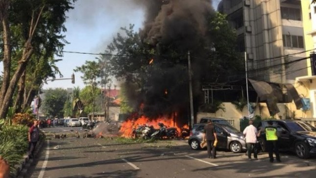 Bomb Location in Surabaya (Photo Dok Industry.co.id)