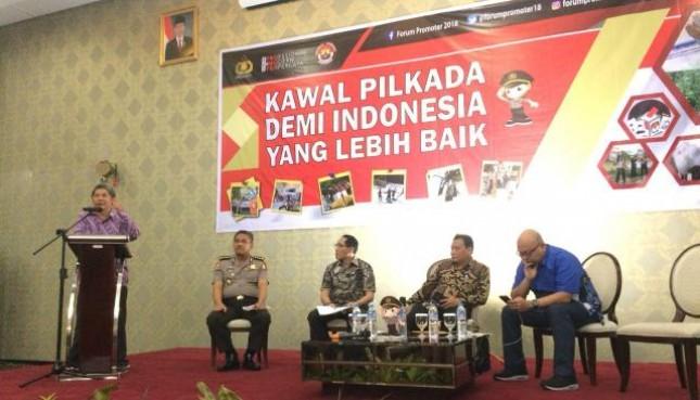 Forum Promoter Kawal Pilkada Demi Indonesia yang Lebih Baik di Hotel Amaroosa, Jakarta Selatan.