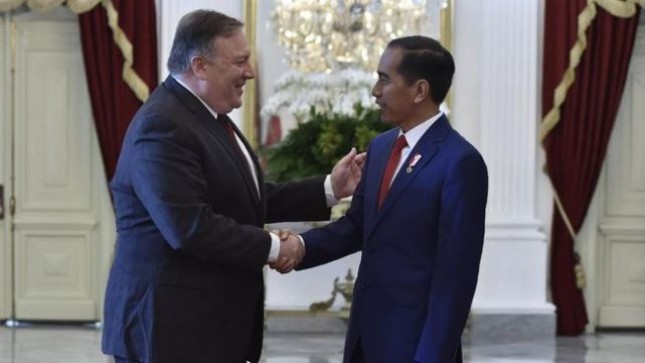 President Jokowi met with US Secretary of State Michael Richard Pompeo (Photo Doc of Industry.co.idP)