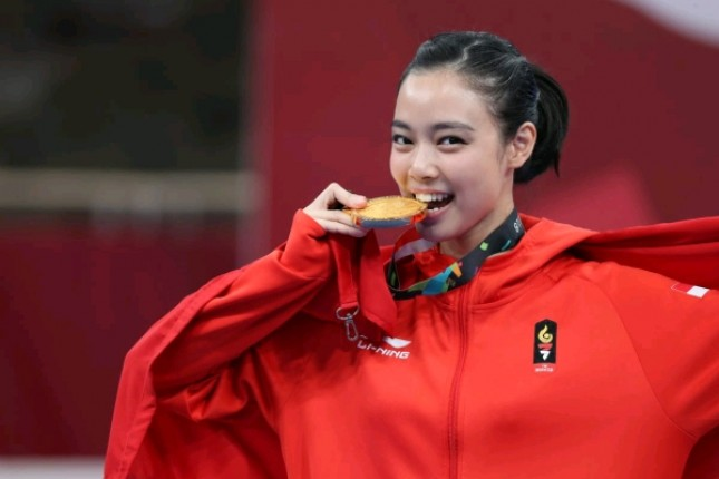 Indonesian Wushu Athlete, Lindswell Kwok Won Gold Medal at 2018 Asian Games