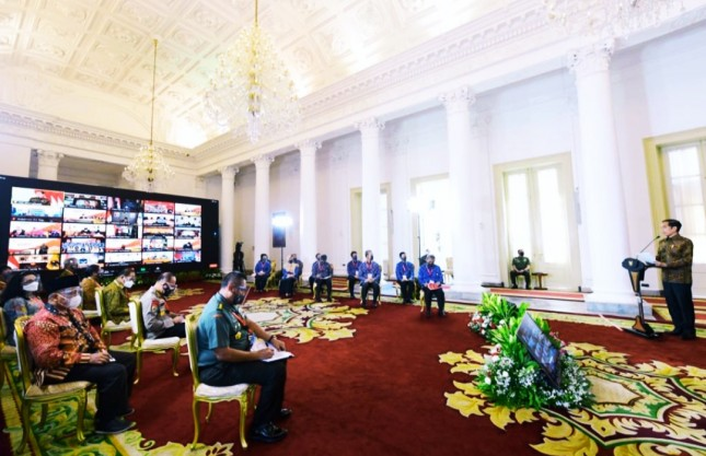 National Coordination Meeting of the Government Internal Comptroller, Thursday (27/05), at the Bogor Presidential Palace. Photo by: Muchlis Jr.