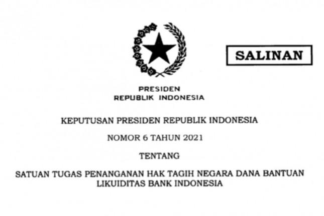 Presidential Decree Number 6 of 2021