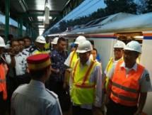 Minister of Transportation Budi Karya Sumadi review the readiness of Soetta Airport Train (Photo Humas)