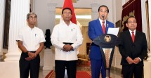 President Jokowi when delivering a press statement related to the Rohingya conflict at Istana Merdeka, Jakarta, Photo: Humas / Nia)