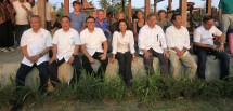 Menteri BUMN Rini Soemarno, Dirut BTN Maryono, Dirut BNI Achmad Baiquni, Dirut PLN Sofyan Basir (Foto Rizki Meirino/INDUSTRY.co.id)