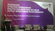 Workshop 'Marketing Strategy Culinary Tour and Shopping for International Travelers (Photo: Kemenpar)