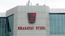 Krakatau Steel Building. (Dimas Ardian / Bloomberg / Getty Images)