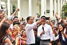 Presiden Jokowi dalam rangkaian acara peringatan Hari Sumpah Pemuda. (Foto Setkab)