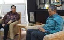President Director of PT Bumi Resources met Menperin Airlangga Hartarto