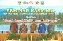 Seminar Nasional Pra Hari Pers Nasional Sumatera Barat 2018