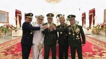 Panglima TNI Gatot Nurmantyo bersama Kepala Staf TNI dan Kapolri (Foto Ist)