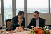 Menperin, Airlangga Hartarto after meeting with SCG CEO, Roongote Rangsiyopash