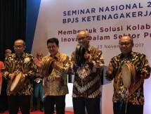 Direktur Utama BPJS Ketenagakerjaan, Agus Susanto paling kanan. (Foto Anto)