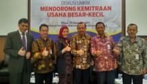 Encouraging Small Enterprise Partnership in IPMI International Business School Campus, Kalibata, South Jakarta, Tuesday (28/11/2017).