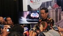 Presiden Joko Widodo dalam acara 100 CEO Forum, di kawasan Kuningan, Jakarta Selatan, Rabu (29/11) (Foto: Humas Kepresidenan)