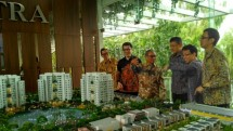 PT Ciputra Residence performs a Topping Off procession or closes the construction of Tower A and B CitraLake Suites apartments