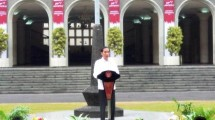 President Joko Widodo on event at UGM