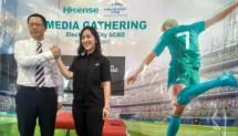 (Kiri-Kanan: Direktur Utama PT Hisense International Indonesia, Jacky Jia dan GM Merchandising PT Electronic City Tbk, Lyvia Mariana.