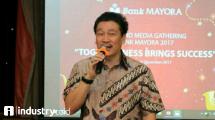 Direktur Utama Bank Mayora Irfanto Oeij (Hariyanto/INDUSTRY.co.id)