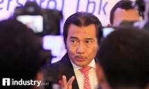 Dirut BRI Suprajarto, memaparkan acara rapat umum pemegang saham luar biasa di Jakarta, Rabu (18/10/2017). (Foto Rizki Meirino)