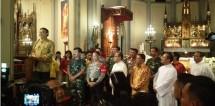 Mendagri Tjahjo, Panglima TNI Hadi dan Kapolri Tito kunjungi gereja jelang Natal 2017 (Doto Dok Industry.co,id)