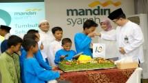 Acara syukuran milad Mandiri Syariah (Foto: Anto/Industry.co.id)