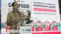 Vice Governor of DKI Jakarta, Sandiaga Uno in the Go-Food Festival in Pasaraya, Blok-M (Photo: Rahmat Herlambang / Industry.co.id)