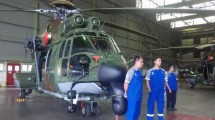 EC 725 Cougar helicopter made by PT Dirgantara Indonesia. (KOMPAS.com/Reni Susanti)