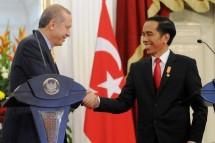 President Jokowi and Turkish President Recep Tayyip Erdogan (Foto Setkab)