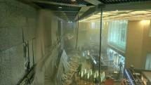 Kanopi Atap Bedung Bursa Indonesia Rubuh (Foto Ist)