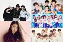 IU, Epik High, TWICE, GOT7 dan Wanna One. (Dok. Industry.co.id)