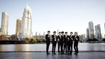 EXO Member While Visiting The Dubai Fountain (Photo: soompi.com)