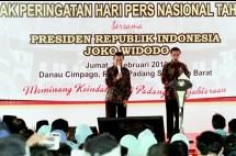 Presiden Jokowi jadi Wartawan di HPN 2018 (Rino/INDUSTRY.co.id)