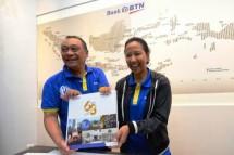 Dirut BTN Maryono dan Menteri BUMN Rini Soemarno (Foto Rizki Meirino)