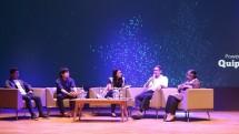 "Acara Panel Diskusi ""Melangkah Maju dengan Teknologi dan Pendidikan"" bersama Quipper Indonesia, Senin (12/2). (Foto: Dina Astria/Industry.co.id)"