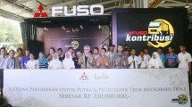 Mitsubishi Fuso awarded a scholarship of Rp 330 million
