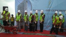 PT Muliaguna Propertindo Development held a roof topping event or Apartment Sudirman Hill Residence which was developed in Tanah Karang Pasar Baru Barat V, Tanah Abang Central Jakarta, Saturday 3 March 2018