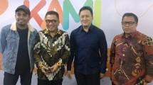 Glenn Fredly, Director of TVRI Helmi Yahya, Head of Bekraf Triawan Munaf, Dir. TVRI News. Apni Jaya. (Photo: AMZ)