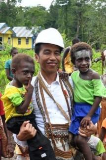 Presiden Jokowi di Asmat Papua (Industry.co.id)